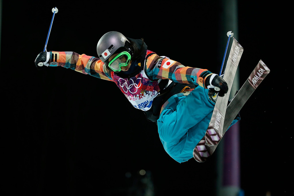 . Minami Mitsuboshi of Japan competes in the Women\'s Freestyle Skiing Halfpipe Qualification at Rosa Khutor Extreme Park during the Sochi 2014 Olympic Games, Krasnaya Polyana, Russia, 20 February 2014.  EPA/VALDRIN XHEMAJ