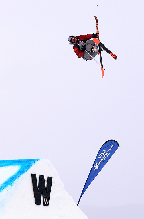 . Russ Henshaw of Australia skis to third place in the men\'s FIS Slopestyle Ski World Cup at the U.S. Snowboarding and Freeskiing Grand Prix on December 21, 2013 in Copper Mountain, Colorado.  (Photo by Doug Pensinger/Getty Images)