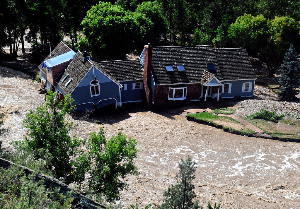 . Flood damage along Colo. Highway 36 north of Lyons Friday, Sept. 13, 2013. (Greg Lindstrom/Times-Call)