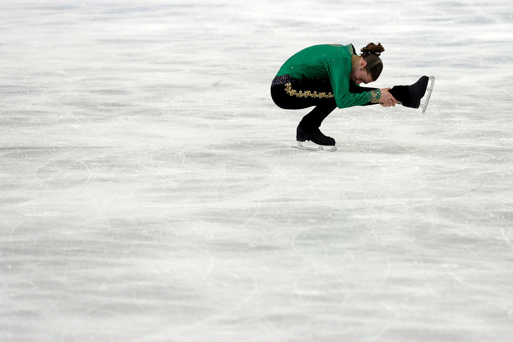 . SOCHI, RUSSIA - FEBRUARY 14: American Jason Brown during the men\'s figure skating free skate. Sochi 2014 Winter Olympics on Friday, February 14, 2014. (Photo by AAron Ontiveroz/The Denver Post)