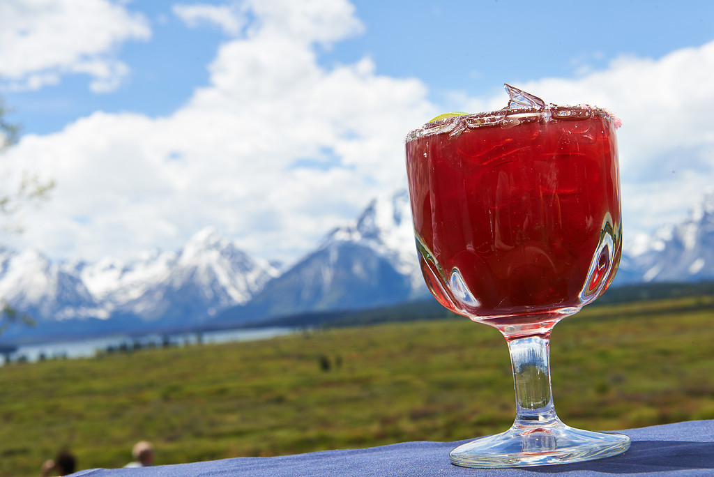 . You can\'t beat the view of Grand Teton National Park from the Blue Heron Lounge in Jackson Lake Lodge, which looks even better behind a Huckleberry Margarita. Grand Teton Lodge Company