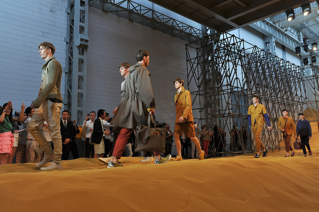 . Models walk the runway at the Fendi show during Milan Menswear Fashion Week Spring Summer 2014 show on June 24, 2013 in Milan, Italy.  (Photo by Stefania D\'Alessandro/Getty Images)