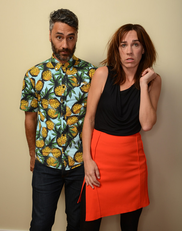 . Filmmaker Taika Waititi and actress Jackie van Beek pose for a portrait during the 2014 Sundance Film Festival at the WireImage Portrait Studio at the Village At The Lift on January 20, 2014 in Park City, Utah.  (Photo by Larry Busacca/Getty Images)