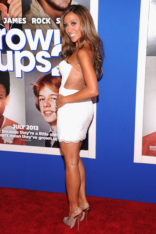". TV personality Melissa Gorga attends the ""Grown Ups 2\"" New York Premiere at AMC Lincoln Square Theater on July 10, 2013 in New York City.  (Photo by Jamie McCarthy/Getty Images)"