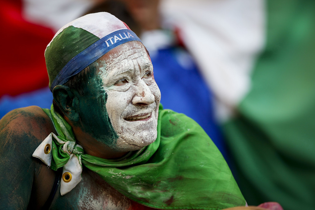. An Italian national football team fan waits at the Arena Amazonia in Manaus, Brazil, on June 14, 2014, for the FIFA World Cup 2014 match against England.   RAPHAEL ALVES/AFP/Getty Images