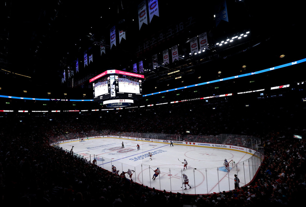 . MONTREAL, QC - MAY 17:  A general view in the first period in Game One of the Eastern Conference Finals of the 2014 NHL Stanley Cup Playoffs between the Montreal Canadiens and New York Rangers at the Bell Centre on May 17, 2014 in Montreal, Canada.  (Photo by Bruce Bennett/Getty Images)