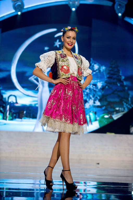 . Miss Czech Republic Tereza Chlebovska performs onstage at the 2012 Miss Universe National Costume Show at PH Live in Las Vegas, Nevada December 14, 2012. The 89 Miss Universe Contestants will compete for the Diamond Nexus Crown on December 19, 2012. REUTERS/Darren Decker/Miss Universe Organization/Handout