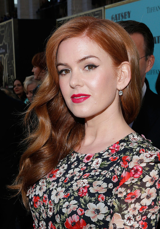 ". Actress Isla Fisher attends the ""The Great Gatsby\"" world premiere at Avery Fisher Hall at Lincoln Center for the Performing Arts on May 1, 2013 in New York City.  (Photo by Jemal Countess/Getty Images)"