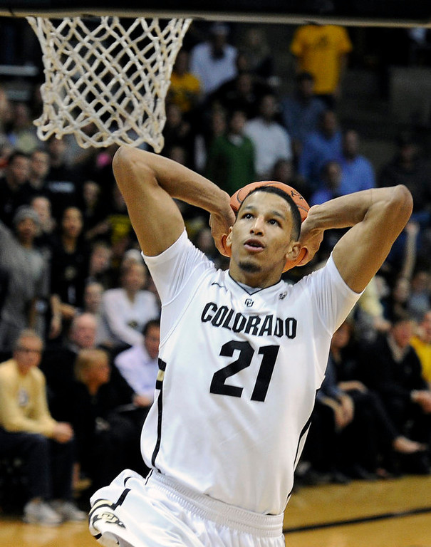 . University of Colorado\'s Andre Roberson goes for a dunk during a game against Texas Southern on Tuesday, Nov. 27, at the Coors Event Center on the CU campus in Boulder.  Jeremy Papasso/ Camera