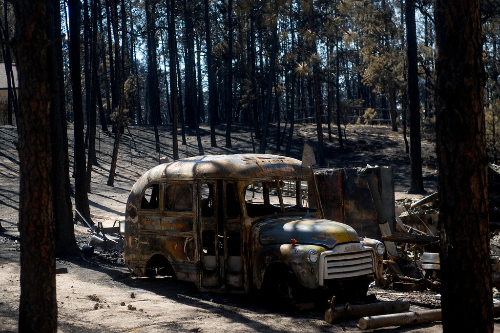 . Pictures of the Black Forest Fire burn area as seen from a media tour on Friday, June 21, 2013. Photo By Grant Hindsley / The Denver Post)