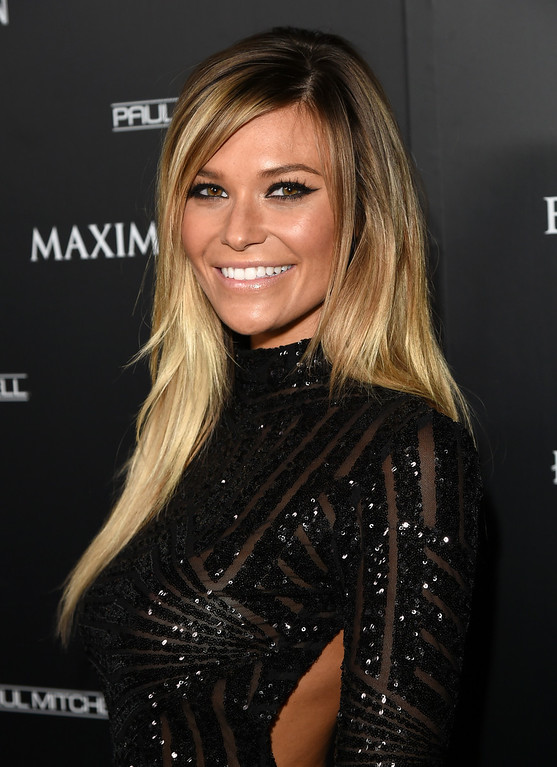 . Model Samantha Hoopes attends Maxim\'s Hot 100 Women of 2014 celebration and sneak peek of the future of Maxim at Pacific Design Center on June 10, 2014 in West Hollywood, California.  (Photo by Jason Merritt/Getty Images for MAXIM)