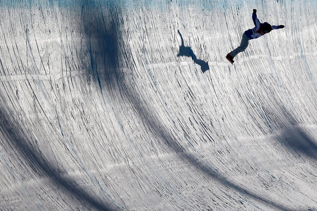 . Mirabelle Thovex of France during the Women\'s Snowboard Halfpipe qualification at Rosa Khutor Extreme Park at the Sochi 2014 Olympic Games, Krasnaya Polyana, Russia, 12 February 2014.  EPA/PETER KLAUNZER