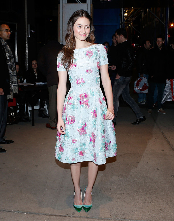 ". Actress Emmy Rossum attends the Gucci and The Cinema Society screening of ""Oz the Great and Powerful\"" at the DGA Theater on March 5, 2013 in New York City.  (Photo by Jemal Countess/Getty Images)"
