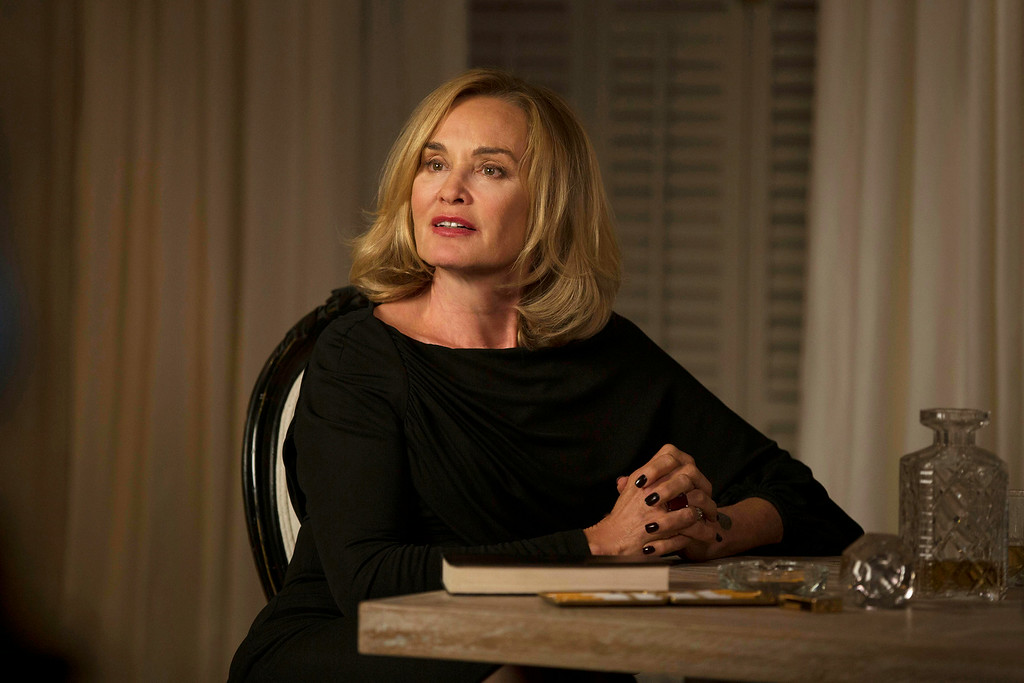 ". This image released by FX shows Jessica Lange as Fiona in a scene from ""American Horror Story: Coven.\"" Lange was nominated for an Emmy Award for best actress in a miniseries or movie on Thursday, July 10, 2014. The 66th Primetime Emmy Awards will be presented Aug. 25 at the Nokia Theatre in Los Angeles. (AP Photo/FX, Michele K. Short)"