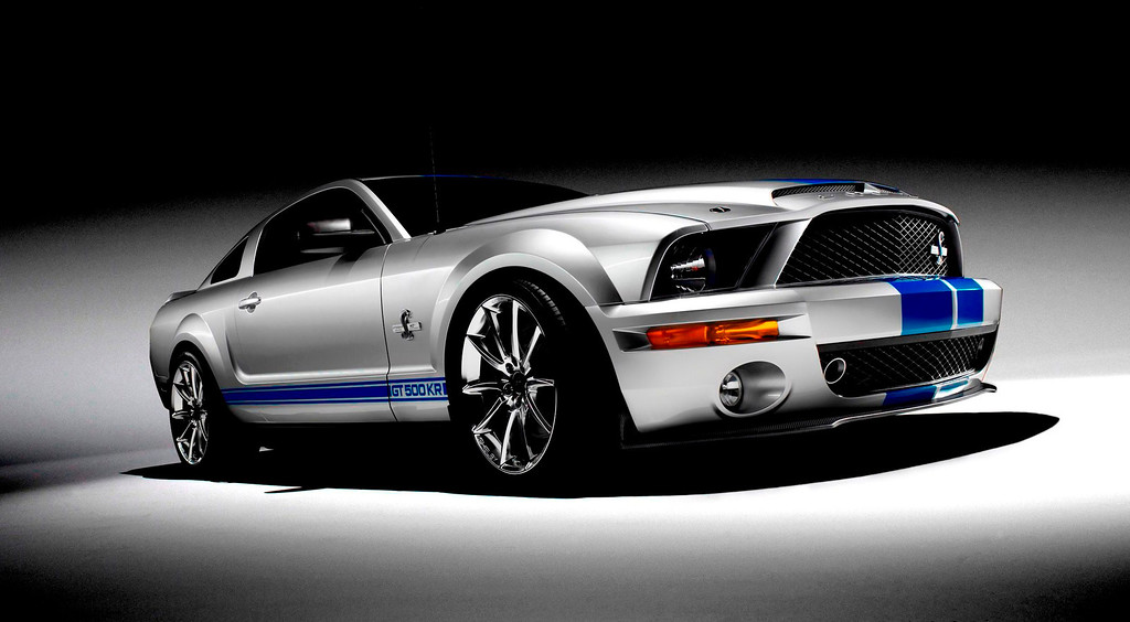 . In a photo provided by the Ford Motor Co., a 2008 GT500KR is shown. The 540-horsepower 2008 GT500KR begins production on Friday, Jan. 11, 2008. The GT500KR or King of the Road Mustang is the fourth limited-edition Mustang that Shelby Automobiles and Ford have brought to market since resuming their collaboration in 2001. The new car which will be available at select Ford dealerships this spring is limited to a production run of 1,000 units. (AP Photo/Ford Motor Co., ho)