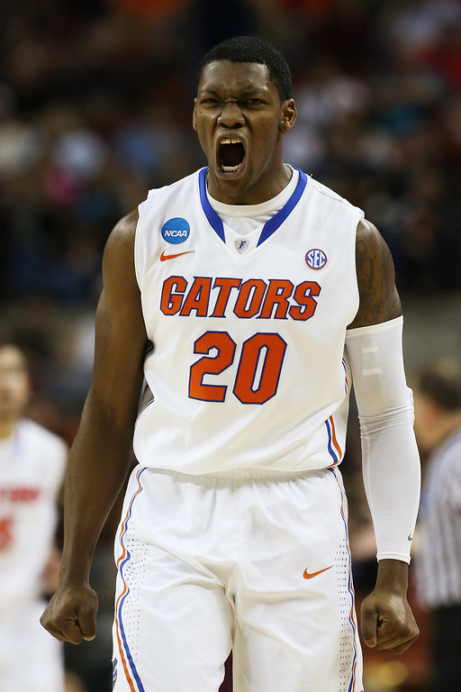 . Michael Frazier II #20 of the Florida Gators reacts in the first half against the Minnesota Golden Gophers during the third round of the 2013 NCAA Men\'s Basketball Tournament at The Frank Erwin Center on March 24, 2013 in Austin, Texas.  (Photo by Stephen Dunn/Getty Images)