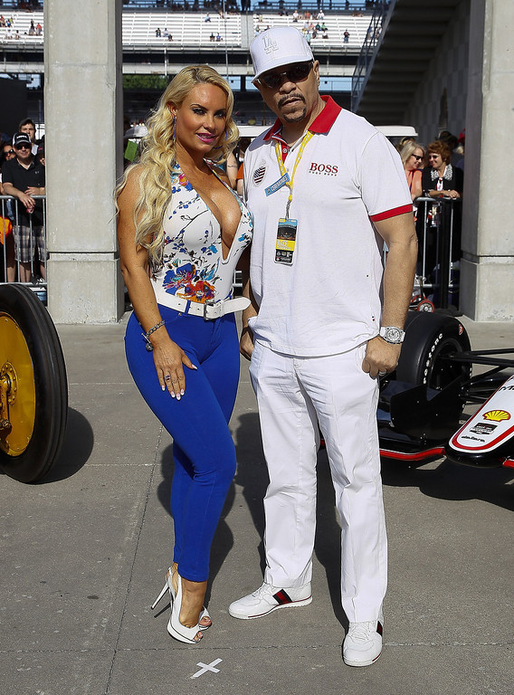 . Coco and Ice-T attends the 2014 Indy 500 at Indianapolis Motorspeedway on May 25, 2014 in Indianapolis, Indiana. (Photo by Michael Hickey/Getty Images)