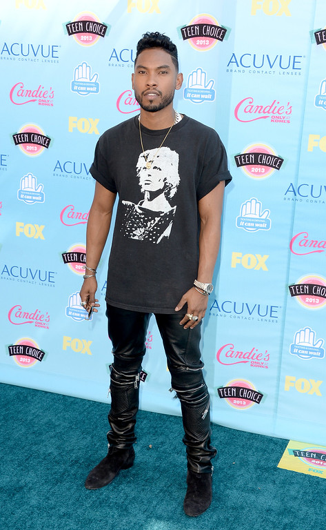 . Singer Miguel attends the Teen Choice Awards 2013 at Gibson Amphitheatre on August 11, 2013 in Universal City, California.  (Photo by Jason Merritt/Getty Images)