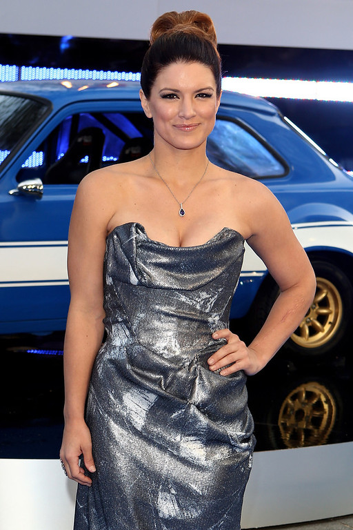 . Actress Gina Carano  attends the World Premiere of \'Fast & Furious 6\' at Empire Leicester Square on May 7, 2013 in London, England.  (Photo by Tim P. Whitby/Getty Images)