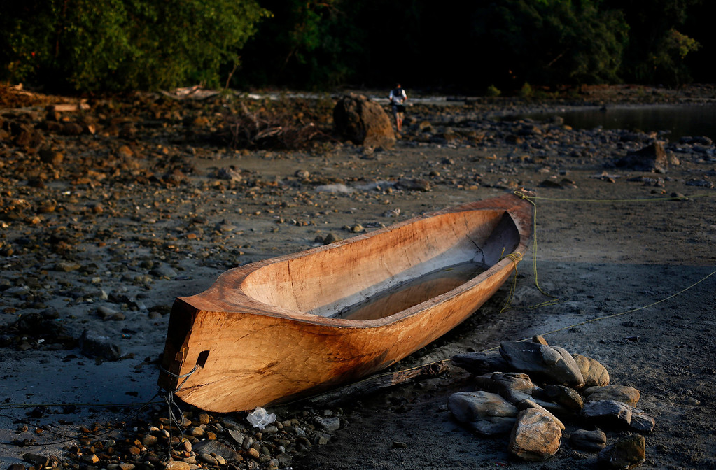 . In this Feb. 9, 2014 photo, a newly carved canoe, mostly used by Moken people, nomads of the sea, lies on the shore of Nyuang Wee Island inhabited by Myanmarese fishermen, in Mergui Archipelago, Myanmar. Isolated for decades by the country�s former military regime and piracy, the Mergui archipelago is thought by scientists to harbor some of the world�s most important marine biodiversity and looms as a lodestone for those eager to experience one of Asia�s last tourism frontiers before, as many fear, it succumbs to the ravages that have befallen many of the continent�s once pristine seascapes. Although no accurate census is available, about 2,000 Moken are believed to inhabit the archipelago, significantly reduced through migration, intermarriage with Burmese and deaths of males from rampant alcohol and drug abuse.  (AP Photo/Altaf Qadri)