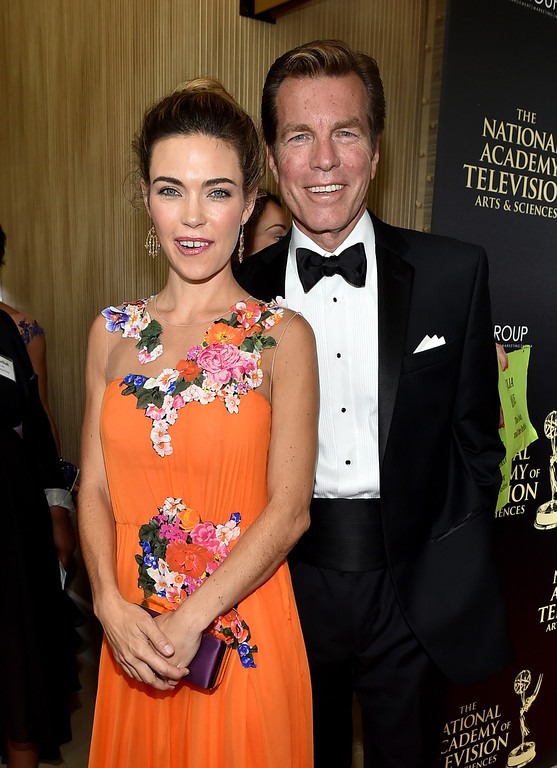 . Actors Amelia Heinle and Peter Bergman attend The 41st Annual Daytime Emmy Awards at The Beverly Hilton Hotel on June 22, 2014 in Beverly Hills, California.  (Photo by Alberto E. Rodriguez/Getty Images for NATAS)