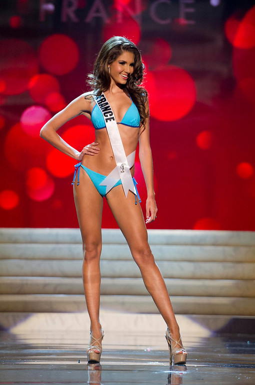 . Miss France 2012 Marie Payet competes during the Swimsuit Competition of the 2012 Miss Universe Presentation Show at PH Live in Las Vegas, Nevada December 13, 2012. The Miss Universe 2012 pageant will be held on December 19 at the Planet Hollywood Resort and Casino in Las Vegas. REUTERS/Darren Decker/Miss Universe Organization L.P/Handout