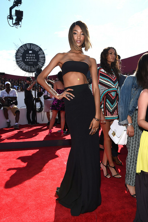 . Model Jourdan Dunn attends the 2014 MTV Video Music Awards at The Forum on August 24, 2014 in Inglewood, California.  (Photo by Larry Busacca/Getty Images for MTV)