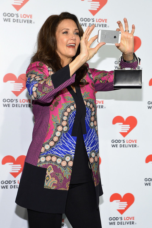 . NEW YORK, NY - OCTOBER 16: Actress Lynda Carter attends God\'s Love We Deliver 2013 Golden Heart Awards Celebration at Spring Studios on October 16, 2013 in New York City.  (Photo by Larry Busacca/Getty Images for Michael Kors)
