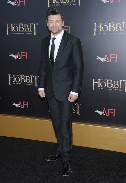 """. Andy Serkis attends \""""The Hobbit: An Unexpected Journey\"""" New York premiere benefiting AFI at Ziegfeld Theater on December 6, 2012 in New York City.  (Photo by Michael Loccisano/Getty Images)"""