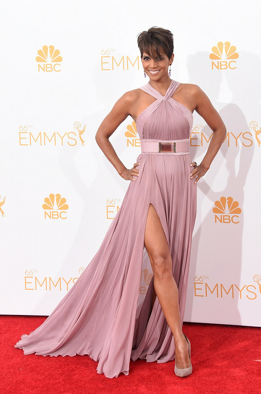 . Actress Halle Berry poses in the press room during the 66th Annual Primetime Emmy Awards held at Nokia Theatre L.A. Live on August 25, 2014 in Los Angeles, California.  (Photo by Jason Merritt/Getty Images)