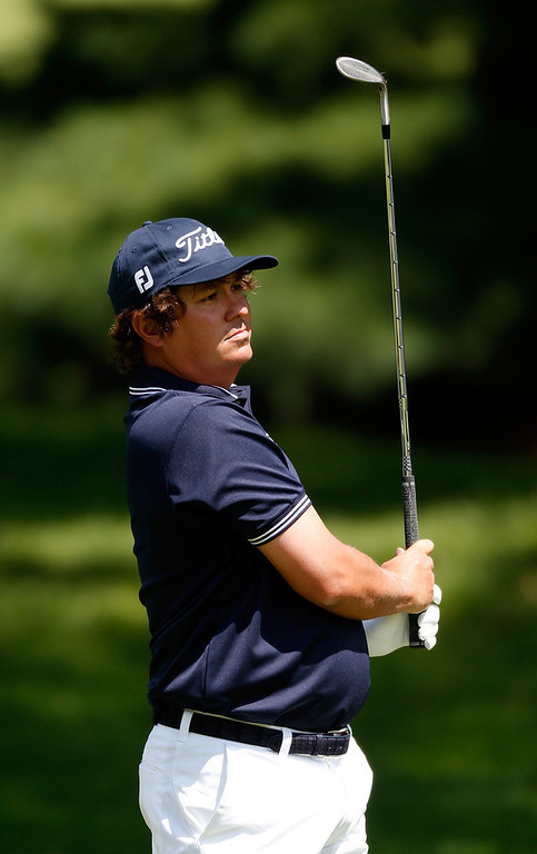 . Jason Dufner hits off the first fairway during the Final Round of the World Golf Championships-Bridgestone Invitational at Firestone Country Club South Course on August 4, 2013 in Akron, Ohio.  (Photo by Gregory Shamus/Getty Images)