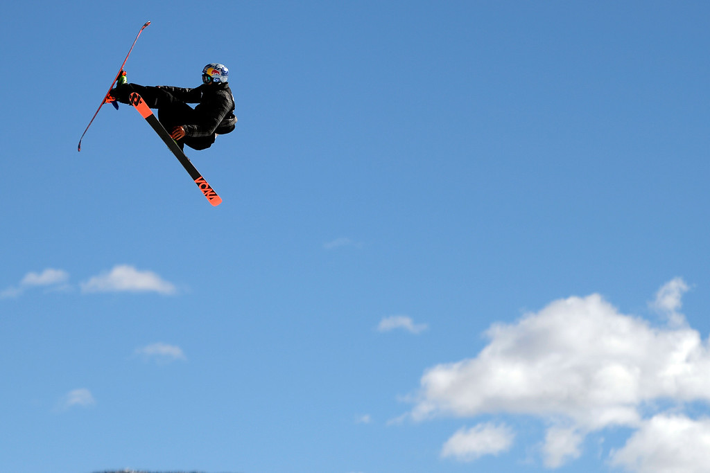 . Nick Goepper rides his way to a second straight gold during the men\'s ski slopestyle final. X Games Aspen at Buttermilk on Friday, January 25, 2014. (Photo by AAron Ontiveroz/The Denver Post)