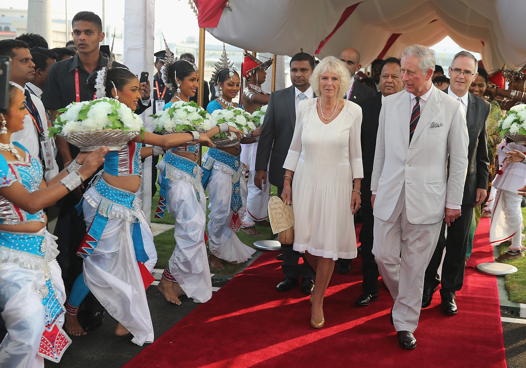 . Prince Charles, Prince of Wales and Camilla, Duchess of Cornwall arrive in Sri Lanka on November 14, 2013 in Columbo, Sri Lanka.   (Photo by Chris Jackson/Getty Images)
