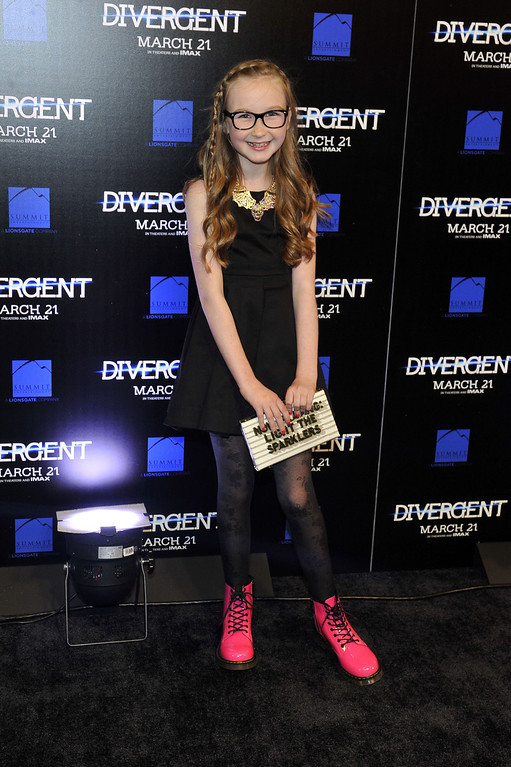 ". Actress Meyril Murphy attends the ""Divergent\"" screening at Regal Atlantic Station on March 3, 2014 in Atlanta, Georgia. (Photo by Moses Robinson/Getty Images)"