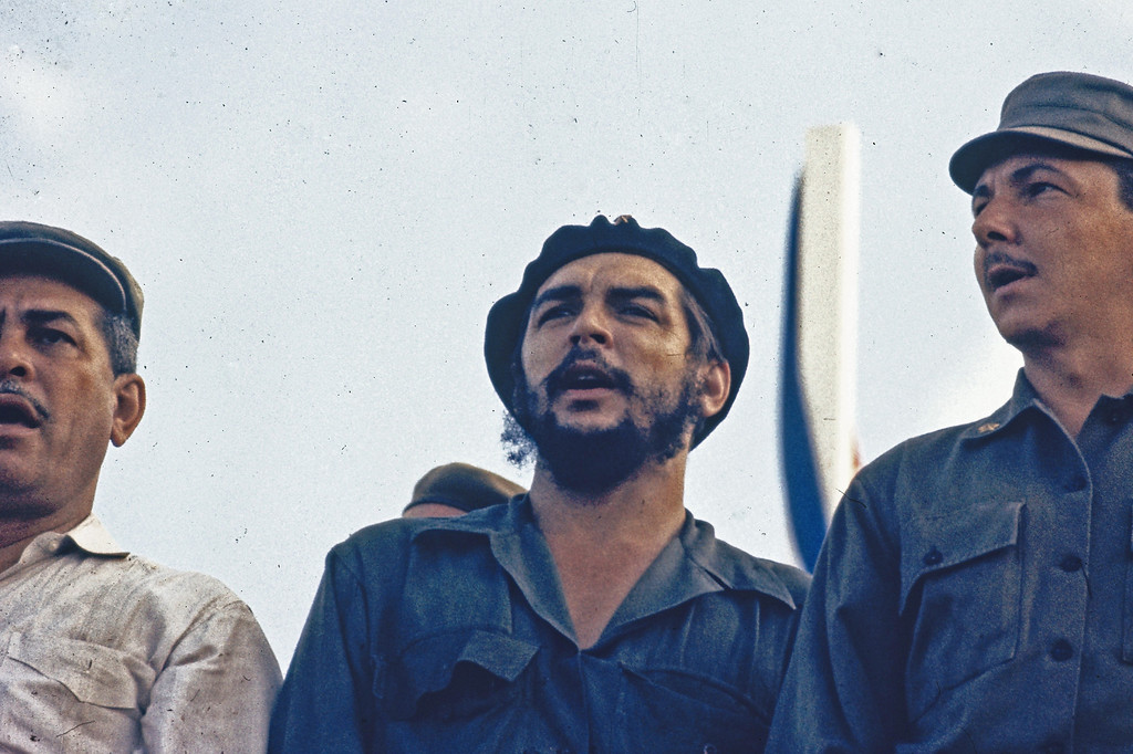 . Cuban revolutionary leader from Chile, Che Guevara is seen in Mexico City, 1964. Raul Castro is to his left, while the other man is unidentified. (AP Photo)