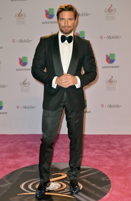 ". Julian Gil arrives at the 25th Anniversary Of Univision\'s ""Premio Lo Nuestro A La Musica Latina\"" on February 21, 2013 in Miami, Florida.  (Photo by Gustavo Caballero/Getty Images for Univision)"