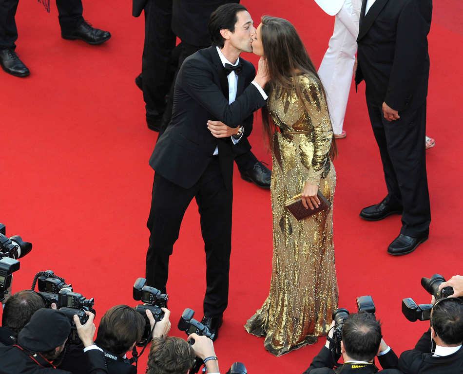 . Adrien Brody and Lara Lieto attend the \'Cleopatra\' premiere during The 66th Annual Cannes Film Festival at The 60th Anniversary Theatre on May 21, 2013 in Cannes, France.  (Photo by Stuart C. Wilson/Getty Images)