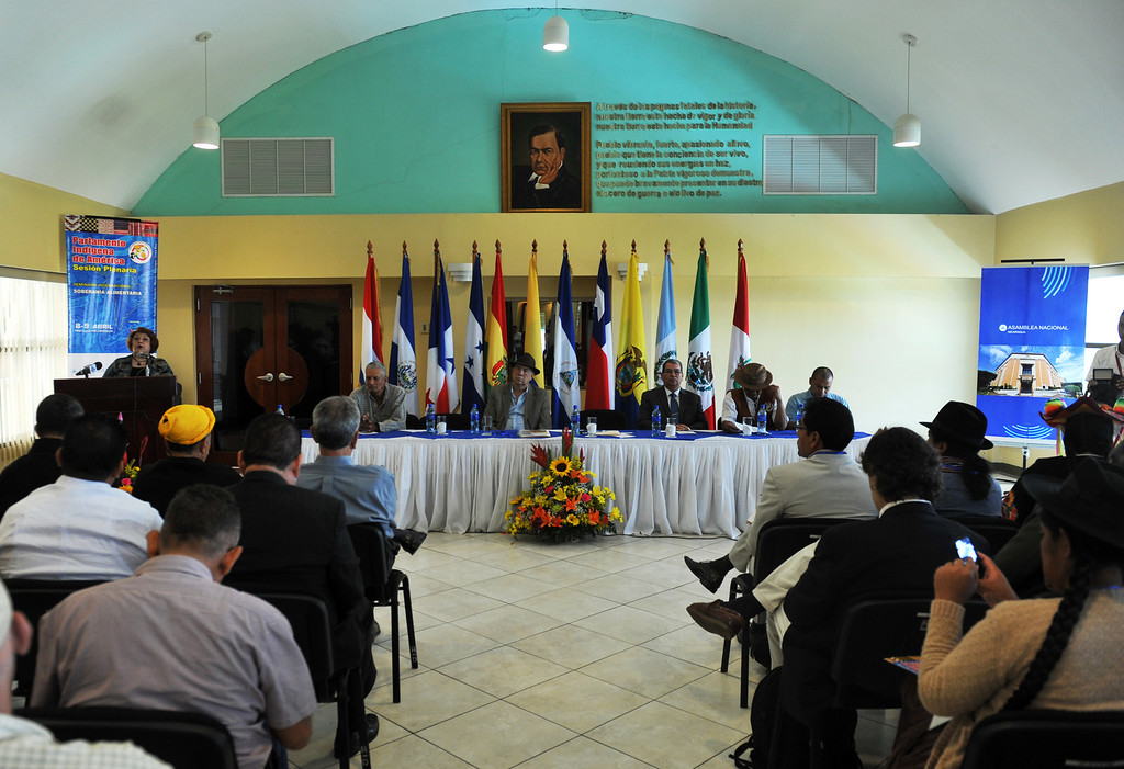 . General view during the XIII Session of the Indigenous Parliament of America (PIA in Spanish) --which deals with food security issues-- in Managua, on April 8, 2013.  HECTOR RETAMAL/AFP/Getty Images