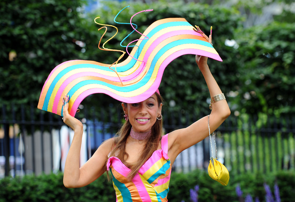 . A Racegoer attends Day 2 of Royal Ascot at Ascot Racecourse on June 18, 2014 in Ascot, England.  (Photo by Stuart C. Wilson/Getty Images)