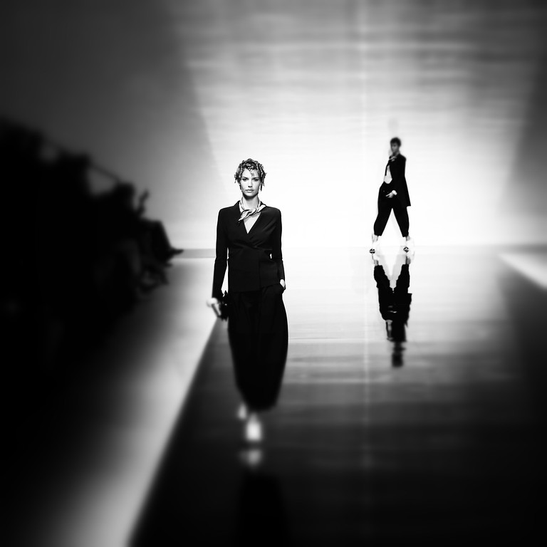. Models walk the runway during the Emporio Armani show as a part of Milan Fashion Week Womenswear Spring/Summer 2014 on September 20, 2013 in Milan, Italy.  (Photo by Vittorio Zunino Celotto/Getty Images)