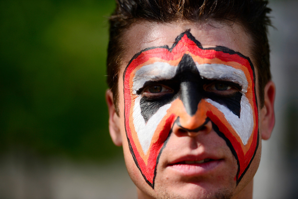 . Anthony Prichard aka Antonio Bandana waits in line before the tryout for American Ninja Warrior Denver on on May 19, 2013. (Photo by AAron Ontiveroz/The Denver Post)