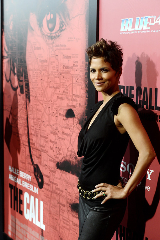 """. Actress Halle Berry arrives at the premiere of Tri Star Pictures\' \""""The Call\"""" at the Arclight Theatre on March 5, 2013 in Los Angeles, California.  (Photo by Kevin Winter/Getty Images)"""