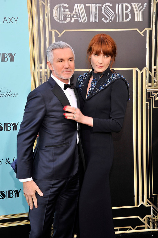 ". Director Baz Luhrmann and musician Florence Welch attend the ""The Great Gatsby\"" world premiere at Avery Fisher Hall at Lincoln Center for the Performing Arts on May 1, 2013 in New York City.  (Photo by Stephen Lovekin/Getty Images)"