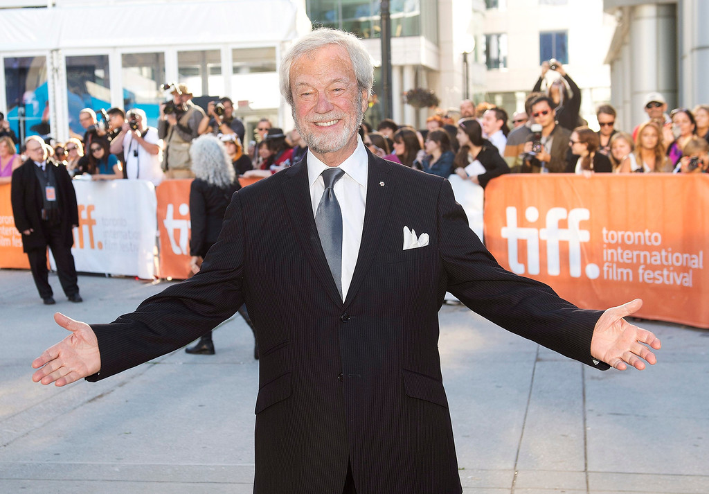 ". Actor Gordon Pinsent poses for a photograph on the red carpet at the gala for the new movie ""The Grand Seduction\"" during the 2013 Toronto International Film Festival in Toronto on Sunday, Sept. 8, 2013. (AP Photo/The Canadian Press, Nathan Denette)"