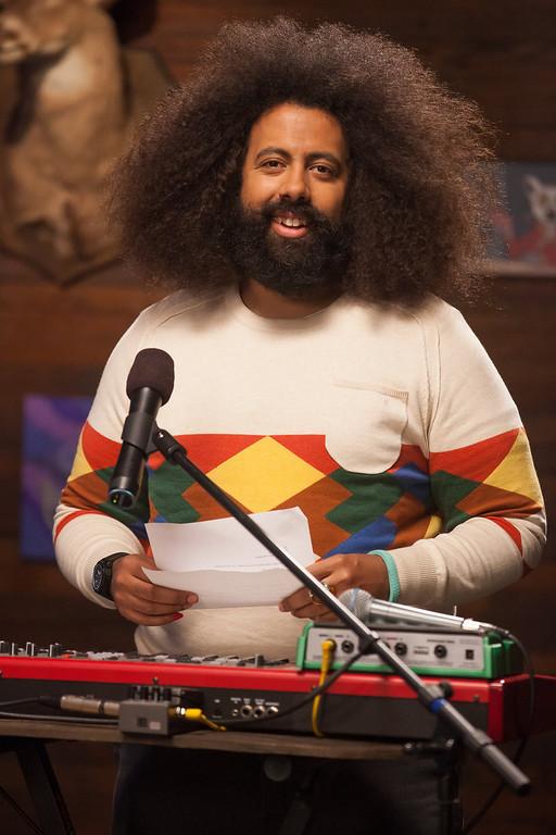 ". Reggie Watts in IFC\'s \""Comedy Bang! Bang!\""  (Photo by Chris Ragazzo/IFC)"