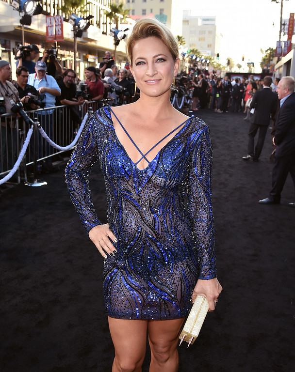 """. Actress Zoe Bell attends the premiere of Lionsgate Films\' \""""The Expendables 3\"""" at TCL Chinese Theatre on August 11, 2014 in Hollywood, California.  (Photo by Kevin Winter/Getty Images)"""