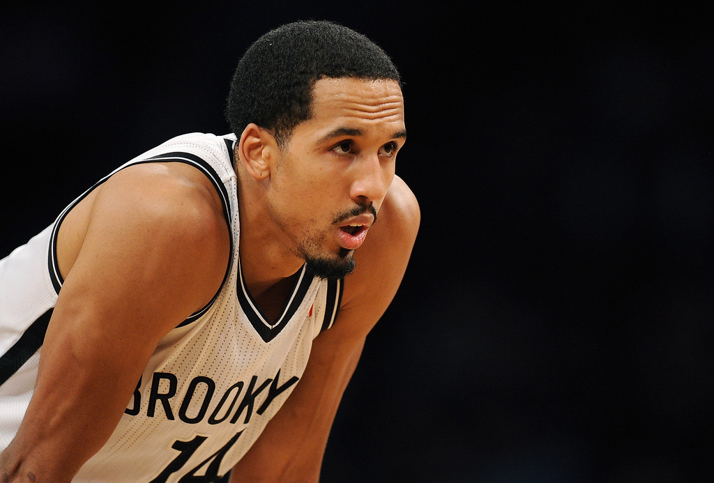 . NEW YORK, NY - DECEMBER 03:  Shaun Livingston #14 of the Brooklyn Nets looks on during the second half against the Denver Nuggets at Barclays Center on December 3, 2013 in the Brooklyn borough of New York City. The Nuggets defeat the Nets 111-87. (Photo by Maddie Meyer/Getty Images)
