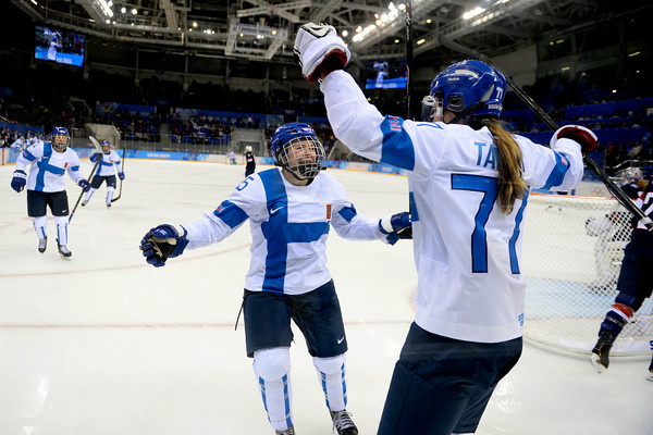 PHOTOS: USA Women's ice hockey team defeats Finland in Preliminary Round at Sochi 2014 Winter Olympics