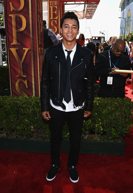 . LOS ANGELES, CA - JULY 16:  Skateboarder Nyjah Huston attends The 2014 ESPYS at Nokia Theatre L.A. Live on July 16, 2014 in Los Angeles, California.  (Photo by Michael Buckner/Getty Images For ESPYS)
