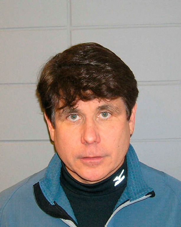 . In this undated handout photo provided by the United States Marshall Service, Rod Blagojevich is shown in his booking mug. (AP Photo/United States Marshall Service, handout)